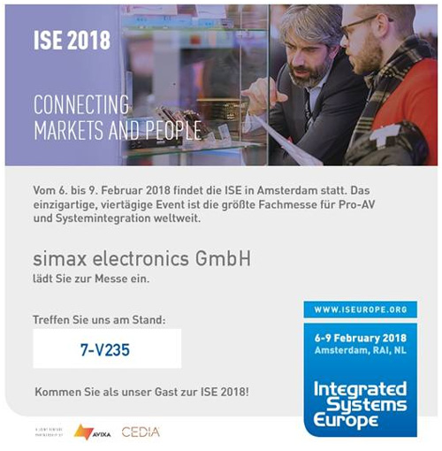 Simax-Messestand bei der ISE 2018